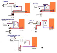 ac condenser wiring diagram wire diagram  at Dual Capacitor 220 Volt Air Compressor Wiring Schematic