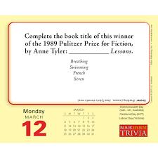 bookworm trivia 2018 desk calendar