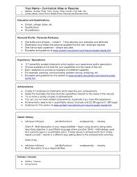 Free Resume Templates Create Cv Template Scaffold Free Resume