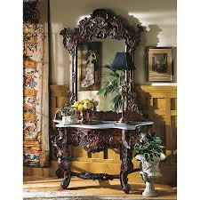 Design Toscano Mirror Design Toscano Gr2232 Hapsburg Mirror And Marble Topped Console Table