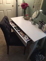 makeup desk target threshold basic desk and threshold brookline tufted dining chair in charcoal