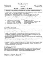 Sample Resume For An Experienced Mechanical Designer Monster Com