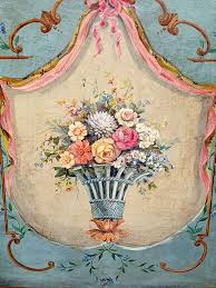 hand painted fireplace screen circa 18th century 2