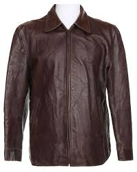 50s horsehide brown leather jacket l