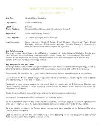 Sales Marketing Cv Digital Marketing Manager Job Description Sample Template Sales And