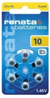 <b>Батарейки Renata ZA10</b> 10A AC230E (<b>6</b> шт) для слухового ...