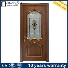 door design with glass and wood home