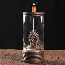 Retro Ceramic Glass Circle Dragon Backflow Incense ... - Amazon.com