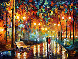 rain s rustle palette knife oil painting on canvas by leonid afremov size