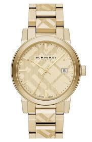 burberry check stamped bracelet watch 38mm nordstrom