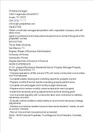 Multi Family Property Manager Resume Templates At