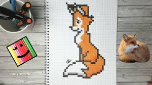 Dessin Pixel Art Renard Mignon Youtube Tuto Dessin Renard En Pixel ArtL