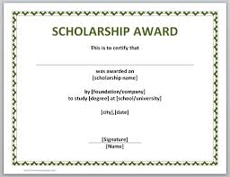 scholarship award certificate templates 29 images of template scholarship award helmettown com