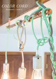 color cord pendant lights tutorial