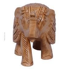 elephant carving teak wood