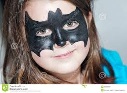 child with bat face painting stock image image of painting 20902847