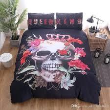 skull bedding set canada printed queen and king sugar skull bedding set home textile duvet cover