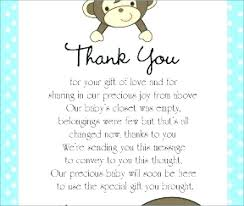 Baby Card Notes Baby Shower Thank You Card Messages Note Boy Dvlpmnt