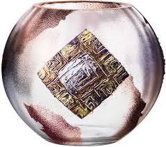 """<b>Ваза Lefard</b> """"Шар"""", 135-5057, золото с серебром, диаметр 18 см ..."""