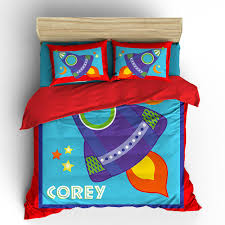 outer space rocket ship adventures kids theme bedding duvet cover by pickleberry kids