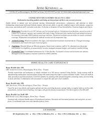 Awesome Collection of Sample Resume For Health Care Aide On Cover