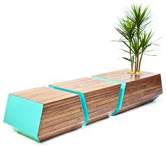Small Picture Boxcar Bench Contemporary Outdoor Benches by Revolution