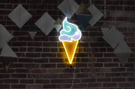 Neon Light Ice Cream Details About Handmade Ice Cream Neon Signs Led Neon Light Sign Boards With Remote Control