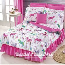 Girls PINK Equine WESTERN PONY HORSE Bedding T/F/Q Sizes Comforter+Sheet Set