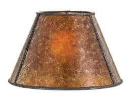 home interior emerging faux leather lamp shades amber empire style mica shade 05717m b p supply