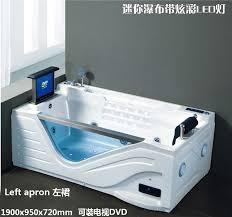 single person spa jacuzzi bathtub with tv dvd