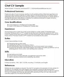 Chef Cv Template Chef Cv Sample Magdalene Project Org