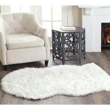 thick white faux fur sheepskin rug new accents home design large small household