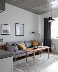 Scandinavian style apartment, concrete ceilings, modern mixed with ...