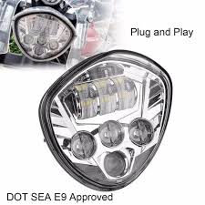 Dot Approved Motorcycle Lights Motos Accessories Motorcycle Led Headlamp Lamp Victory