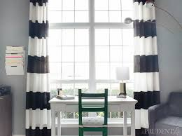 black and white striped blackout curtains