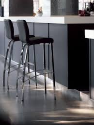 chrome and black bar stools foter