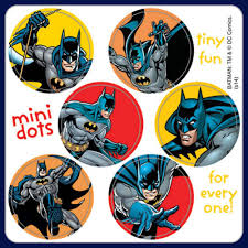 Batman Stickers 48 Dots Party Loot Reward Charts