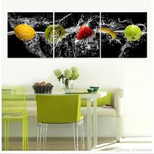 Modern Art Paintings For Living Room 2017 Large Modern 3 Panels Fruits Kiwi Banana Strawberry Apple