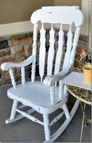 i have this rocking chair hmmm maybe i should paint it white