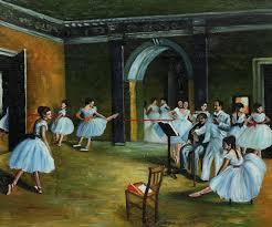 dance studio at the opera by edgar degas