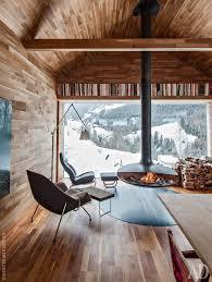 Modern cabin interior design Bedroom Modern Cabin Am Really Diggin Those Oversize Covered Porches It Is Must In Log Cabin Pinterest Шале на севере Италии  Pinterest House Cabin
