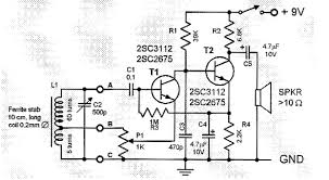 two transistor am radio receiver circuit two transistor am radio receiver circuit schematic