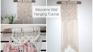 Macrame Wall Hanging How To Make A Macrame Wall Hanging Tutorial For Beginners Youtube