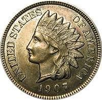 Indian Penny Value Chart 1907 Indian Head Penny Value Cointrackers