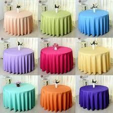 decoration 1 piece inch polyester fabric table cloth cover round for wedding party decoration 60