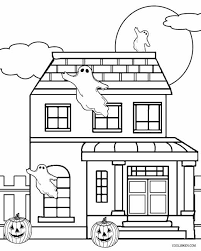 Small Picture Halloween Coloring Pages Haunted House Coloring Pages