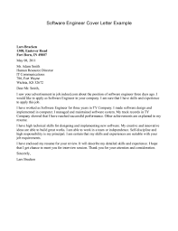 cover letter for internship engineer Software Engineer Cover ...