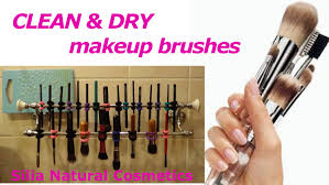 how i clean and dry my makeup brushes