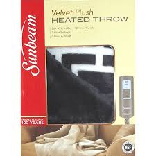 Sunbeam Heated Throw Blanket 3 Heat Settings