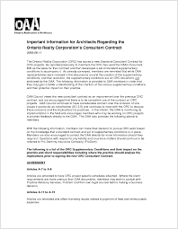 Contracts | Ontario Association Of Architects